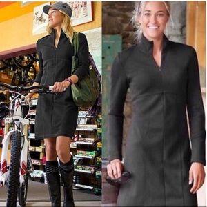 ✨ Athleta | Cassidy Ponte Brown Long Sleeve Dress